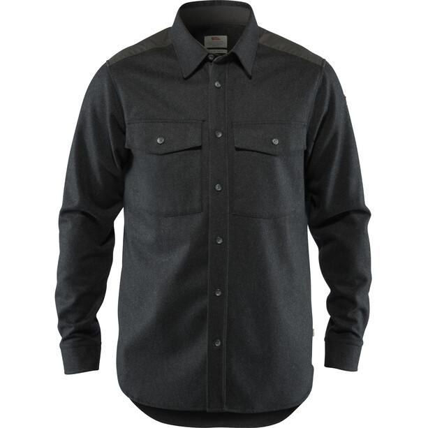 Fjällräven Övik Re-Wool Shirt Langarm Herren dark grey