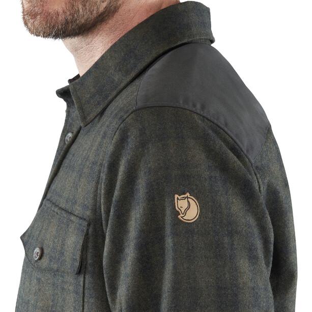 Fjällräven Övik Re-Wool Shirt Langarm Herren dark grey-olive