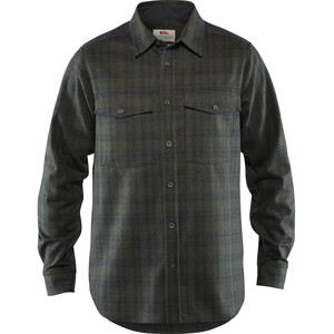 Fjällräven Övik Re-Wool Shirt Langarm Herren dark grey-olive dark grey-olive