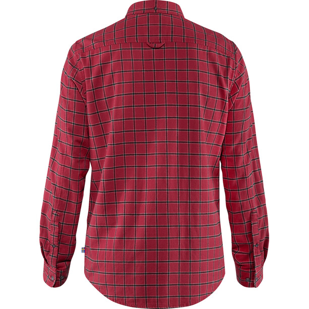 Fjällräven Övik Flannel Shirt Herren deep red
