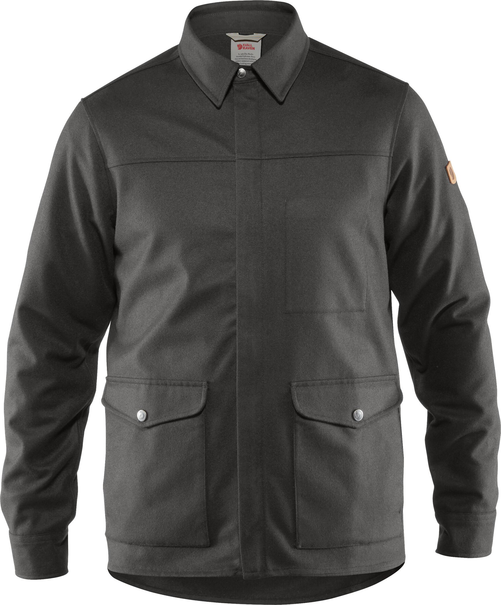 Fjällräven Greenland Re Wool Shirt Jacke Herren black