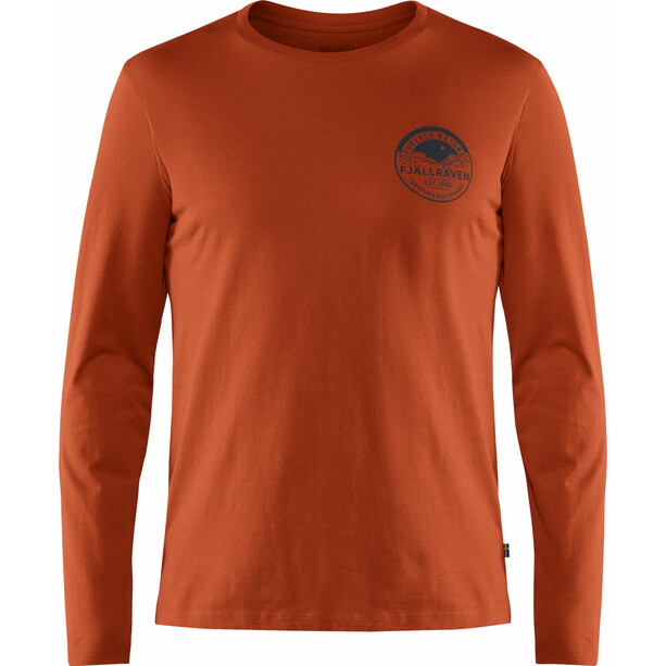 Fjällräven Forever Nature Badge Langarm T-Shirt Herren autumn leaf
