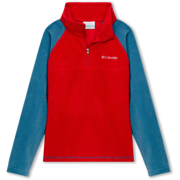 Columbia Glacial Half Zip Pullover Jungen mountain red/blue heron
