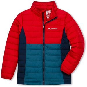 Columbia Powder Lite Jacke Jungen blue heron/mountain red/coll navy blue heron/mountain red/coll navy
