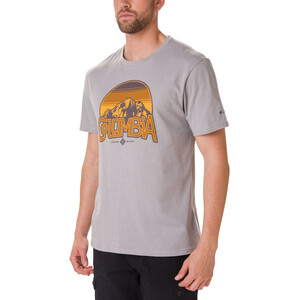 Columbia Basin Butte Kurzarm Graphic T-Shirt Herren columbia grey heather/branded sunshade columbia grey heather/branded sunshade