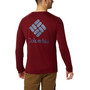 Columbia Miller Valley Langarm Graphic T-Shirt Herren red jasper/dark mountain