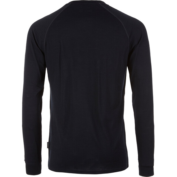 Pally'Hi Classic Peak Logo Merino Langarmshirt Herren bluek