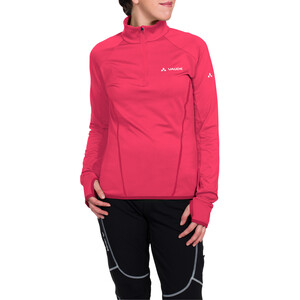 VAUDE Livigno Halfzip Langarmshirt Damen bright pink bright pink