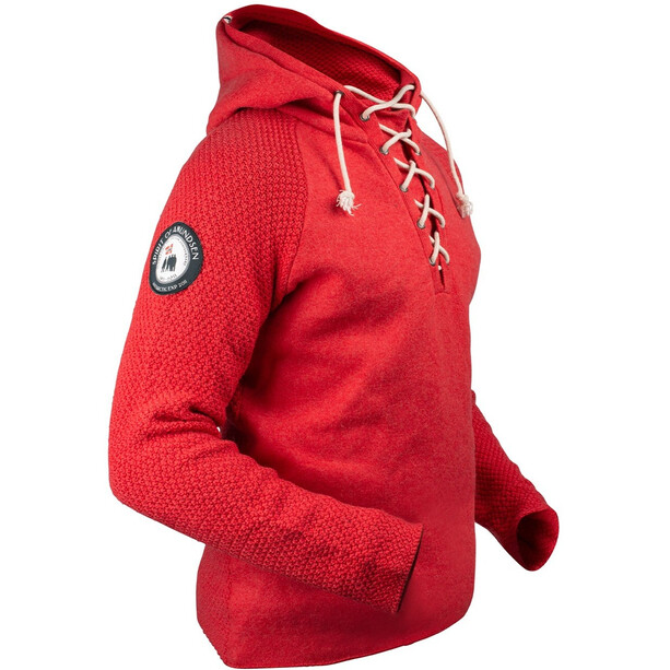 Amundsen Sports Boiled Laced Hoodie Herr weathered red