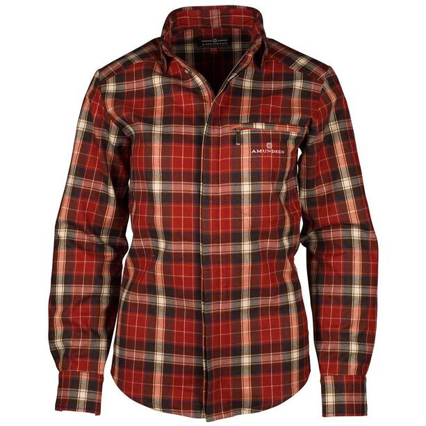 Amundsen Sports Skauen Field Full Zip Shirt Dam red