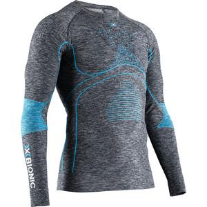 X-Bionic Energy Accumulator 4.0 Melange T-shirt manches longues à col rond Homme, gris/bleu gris/bleu