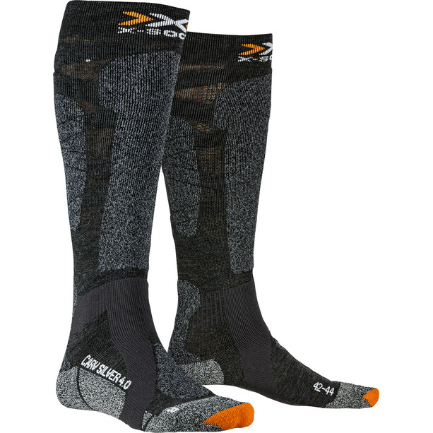 X-Socks Carve Silver 4.0 Socken anthracite melange/black melange