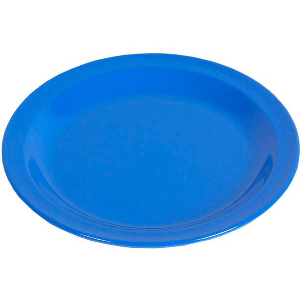 Waca Teller Melamin Flach 23,5cm blue