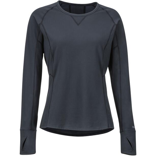 Marmot Lana Lightweight Langarm Rundhals Shirt Damen black