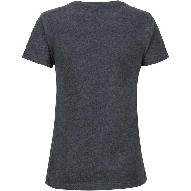 Marmot Coastal Kurzarm T-Shirt Damen charcoal heather
