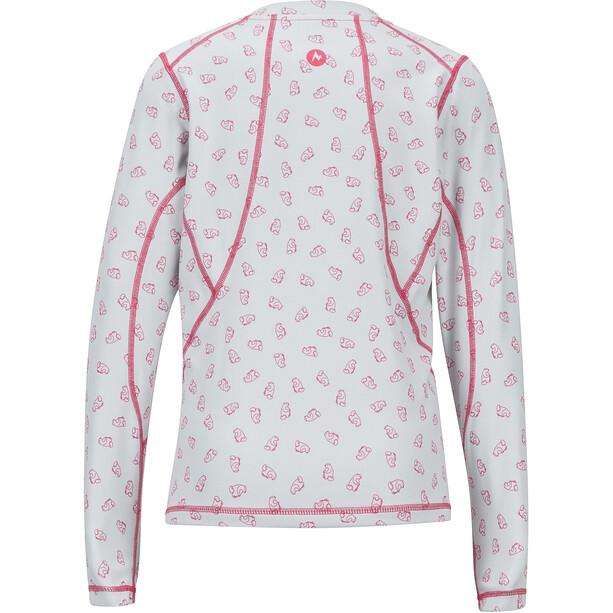 Marmot Meghan Midweight Langarm Rundhals Shirt Mädchen disco pink ditzy marmot