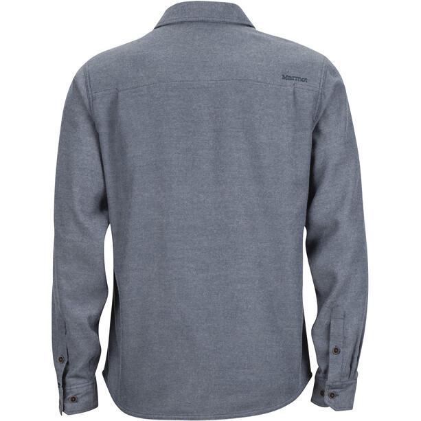 Marmot Hobson Midweight Flannel LS Shirt Herr dark indigo heather