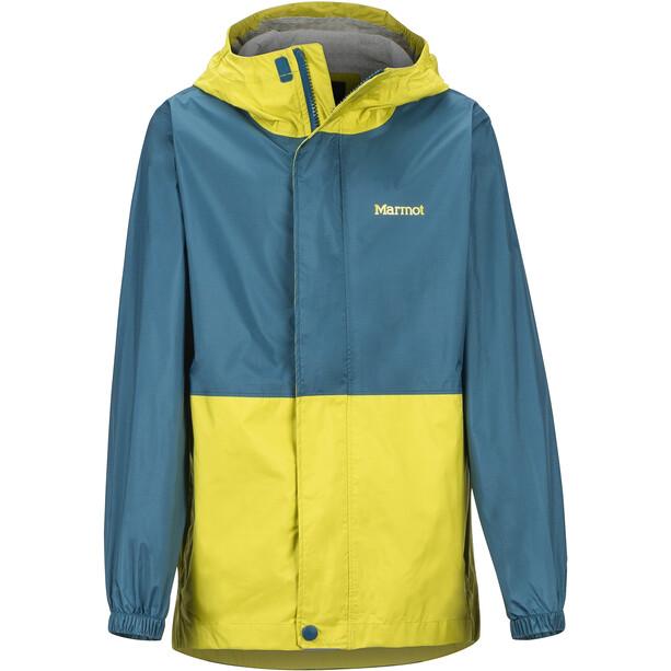 Marmot PreCip Eco Jacket Barn Citronelle/Moroccan Blue