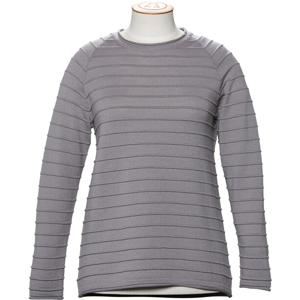 Alchemy Equipment 14GG Merino Stripe Stitch Crew Neck Pullover Dam Mushroom