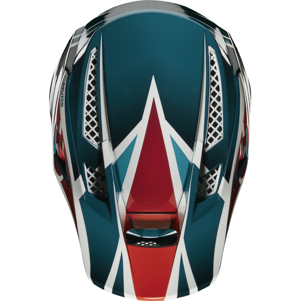 Fox Rampage Pro Carbon Beast Helmet maui blue