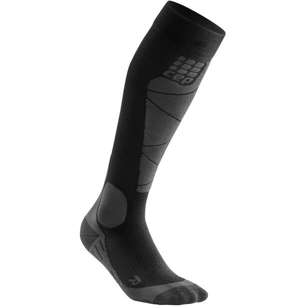 cep Ski Merino Socken Damen schwarz/grau