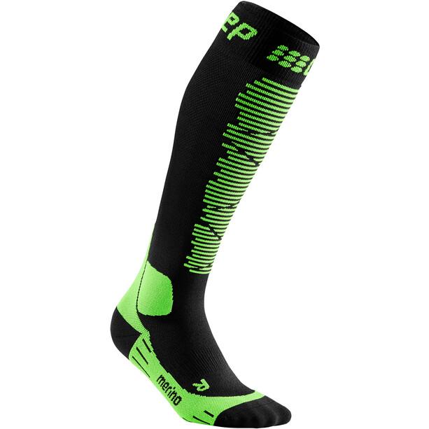 cep Ski Merino Socken Herren schwarz/grün