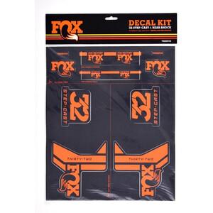 Fox Racing Shox AM Step-Cast Kit de Pegatinas, negro/naranja negro/naranja