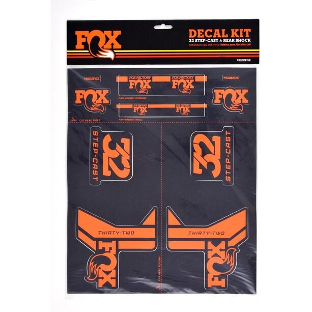 Fox Racing Shox AM Step-Cast Decal Kit svart/orange