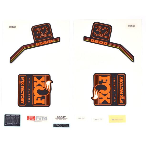 Fox Racing Shox Aufkleber-Set für 32 F-S orange/matte black