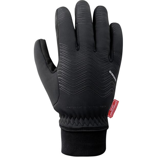 Shimano Windstopper Reflektierende Thermo Handschuhe Herren black