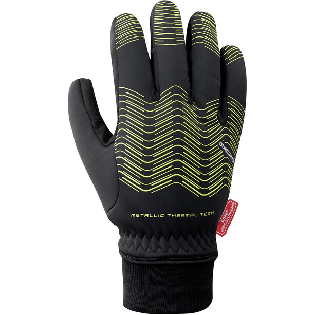Shimano Windstopper Thermal Reflective Gloves Men neon yellow