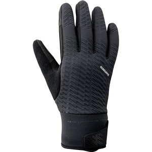 Shimano Windbreak Reflektierende Thermo Handschuhe Herren black black
