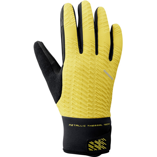 Shimano Windbreak Reflektierende Thermo Handschuhe Herren neon yellow