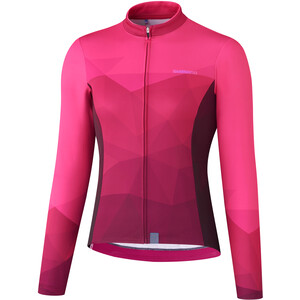 Shimano Kaede Thermo Langarm Trikot Damen pink pink