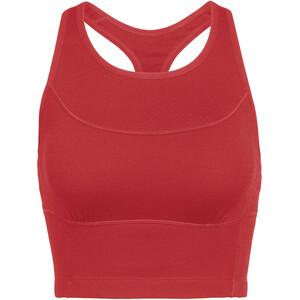 Icebreaker Meld Zone Sujetador deportivo largo Mujer, rojo rojo