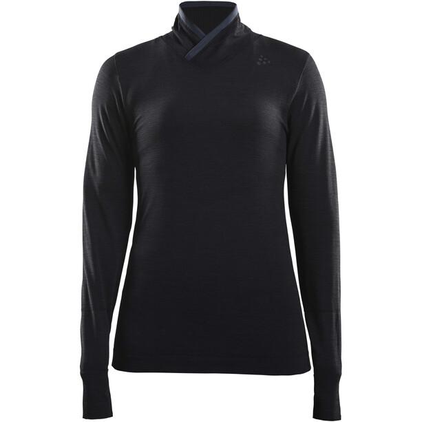 Craft Fuseknit Comfort Wrap Langarmshirt Damen black