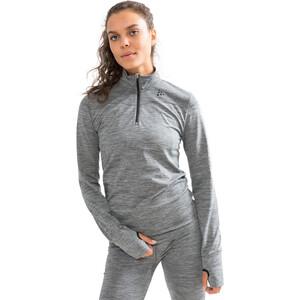 Craft Fuseknit Comfort Zip Shirt Damen dark grey melange dark grey melange