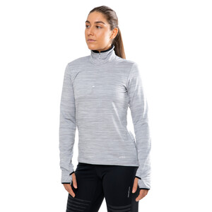 Craft Grid Halfzip Pullover Damen grey melange grey melange