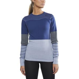 Craft Fuseknit Comfort Blocked Rundhals-Langarmshirt Damen maritime/fog maritime/fog