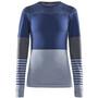 Craft Fuseknit Comfort Blocked Rundhals-Langarmshirt Damen maritime/fog