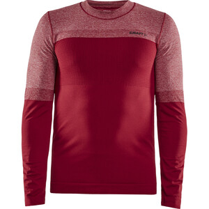 Craft Warm Intensity LS Rundhalsshirt Herren rhubarb/black melange rhubarb/black melange