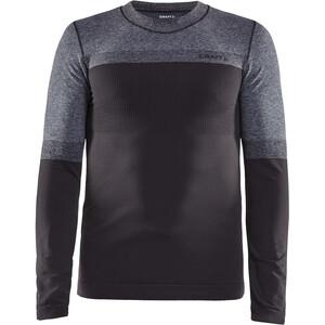 Craft Warm Intensity l-skjorte med rund hals Herre Grå Grå
