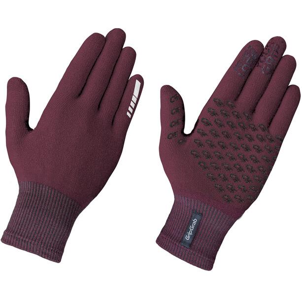 GripGrab Primavera II Merino Gloves dark red