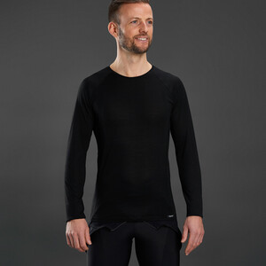 GripGrab Merino Polyfibre Long Sleeve Base Layer black black