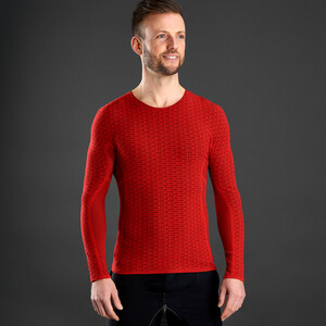 GripGrab Freedom Seamless Thermal LS Base Layer red red
