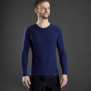GripGrab Freedom Seamless Thermal Langarm Baselayer navy navy