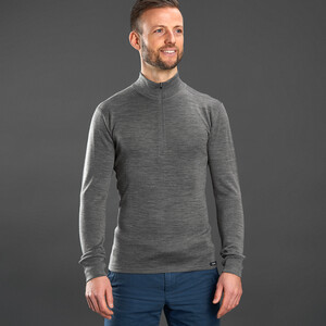 GripGrab Merino Bamboo 1/2 Zip Long Sleeve Base Layer grey grey