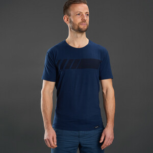 GripGrab Racing Stripe SS Organic Cotton T-Shirt, navy navy