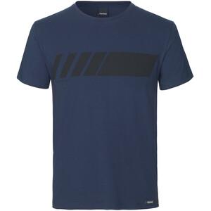 GripGrab Racing Stripe Kurzarm T-Shirt Bio Baumwolle blau blau