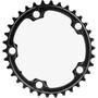 absoluteBLACK Road Ovales Kettenblatt 2-fach 110BCD schwarz